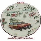 Sets of 6 Better Homes  Gardens Christmas Salad Plates Tree on Car Design