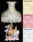 NEW Capodimonte Musical Couple Lady on Piano Lamp w/shade