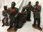 ANTIQUE / VINTAGE ~ BLACK AMERICANA JAZZ BAND FIGURINES ~ 1920s SCENE