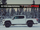 Trd Pro Toyota Racing Development Tacoma Tundra Bed Side Vinyl Decals Stickers