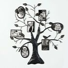 Adeco Brown Black Decorative Collage Bronze Iron Metal Wall Hanging Family Tree