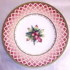 Fitz and Floyd Rose Wreath Salad Plate, Retired - Winter Holiday