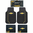 New Chevy Elite Car Truck Front Back Floor Mats Chrome License Plate Frame