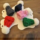 Cute Knit Fur Pom Beanie Bobble Hat Shaped Corsage Brooch Pin Breastpin Toy Gift