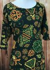 Beautiful NWT LuLaRoe Julia 3X Olive Green Tribal Aztec DRESS