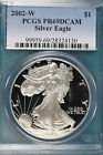 2002 W PCGS PR69DCAM American Silver Eagle FT1