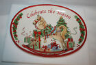 NEW 2012 FITZ & FLOYD  SENTIMENT OVAL TRAY  CELEBRATE THE SEASON