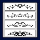 Set of 4 Four Elements Border Design STENCILS Earth Air Water Fire Nature
