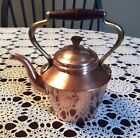 Small Vintage ODT Copper Tea Pot With Brass And Wood Handle Made In Portugal