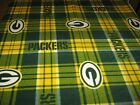 Licensed NFL fabric cozy FLEECE 2 yds GREEN BAY PACKERS sport plaid LAST1