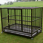 3XL 48 Dog Crate Kennel Heavy Duty Pet Cage Playpen w Metal Tray Exercise Pan