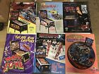 Lot of 6 NOS Pinball Machine Flyers Radical Rollergames Party Zone Black Rose