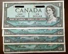 1954 Canada $1 notes - Complete Signature Set - **one is note off center** #1