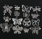 Lot 10 15Pcs Butterfly Charms Pendant Crafts Ring Beads Jewelry Making