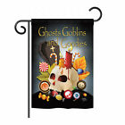 Breeze Decor Ghosts Goblins and Goodies 2 Sided Vertical Flag