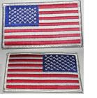 USA American Flag Patches 35X 2US Patch White TrimSew Iron on1 1000 Pack