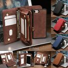 Leather Removable Wallet Magnetic Flip Card Case Cover for iPhone 8
