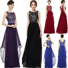 Women Long Chiffon Prom Bridesmaid Formal Ball Gowns Party Evening Wedding Dress