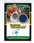 STEPHEN CURRY STEPH 2014 TIMELESS TREASURES AUTOGRAPH AUTO JERSEY CARD #21 99!