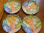Fitz and Floyd Bone China Vegetable Garden Pattern Salad Plate  4 available