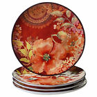 Certified International Watercolor Poppies 10.75-inch Dinner Plates (Set of 4)