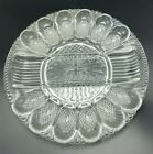 L E Smith Heritage Deviled Egg Relish Tray Divided Plate Scalloped Rim 11