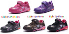 New Baby Toddler Girls Light Up LED Shoes Casual Walking Slip On Sneakers