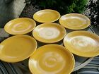 Lot of 7 VINTAGE FIESTA WARE 12 INCH PLATE YELLOW CHOP PLATE PLATTER