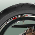 8 x MV AGUSTA F4 CORSE WHEEL RIM DECALS - 750 1000 1078rr r