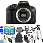 Canon EOS Rebel T6i 750d DSLR Camera Black ALL YOU NEED BODY KIT BRAND NEW