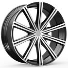 4 NEW KRONIK 404 EPIQ 18x8 5x100 5x1143 +40mm Black Machined Wheels Rims