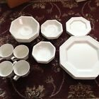 Heritage White Johnson Brothers Iron Stone Dining Ware 6 Piece Set Service for 4