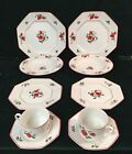 Fitz and Floyd Fraise de Bois strawberry pattern china set for two - 10 pieces