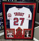 MIKE TROUT Framed MLB DEBUT AUTOGRAPHED JERSEY ANGELS MLB AUTHENTICATED 2X MVP
