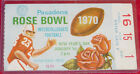 Rose Bowl 1970 Ticket Stub USC Vs Michigan