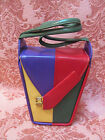 IN THE MOOD? SO RARE Vtg 1940s SWING-TOWN Multi-Color STYLECRAFT MIAMI BOX PURSE