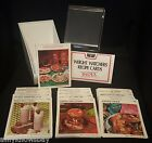 VINTAGE Weight Watchers Recipe Card Library Storage Box Index 1976 MOST SEALED