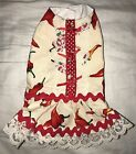 Red Chilli Peppers Dog Dress Size XS Chihuahua Toy Breed Clothes