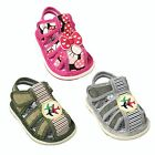 New Baby Girl  Boy Toddlers Closed Toe Squeaky Sandals Shoes Adjustable Strap