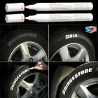 2 LOT TIRE LETTERING White PAINT PEN WHITEWALL SIDEWALL RUBBER LETTER OIL MARKER