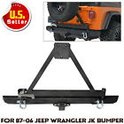 Rear Bumper Rock Crawler With Tire Carrier Swing For 87 06 Jeep Wrangler TJ YJ