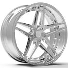 4 NEW ROSSO 701 REACTIV 18x8 5x1143 5x45 +40mm Chrome Wheels Rims