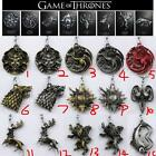 Game of thrones all House Stark Lannister Targaryen Keychain Metal Key Ring