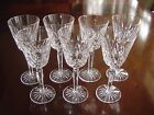 SET OF 7 WATERFORD CRYSTAL GOLDEN GOLD LISMORE TALL 7-3/8