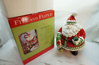 FITZ AND FLOYD COOKIE JAR CHRISTMAS SANTA CLAUS STOCKING STUFFERS NEW IN BOX