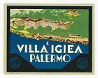 Lot of 3 vintage colorful hotel luggage labels Italy  Sicily