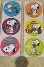 6 MEDIUM  SNOOPY STICKERS PEANUTS  EASTER BUNNY SPRING  SCRAPBOOK  SO CUTE