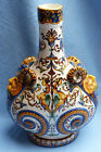 SUPERB AND ORIGINAL FRENCH 1861-71 GIEN FAIENCE PILGRIM'S FLASK