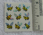 Sandylion MINI BEES WITH PRISMATIC WINGS 1 Square of Stickers RARE RETIRED