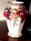 Fitz and Floyd Venezia 11 x 7 inch Vase, Fine Hand Painted China